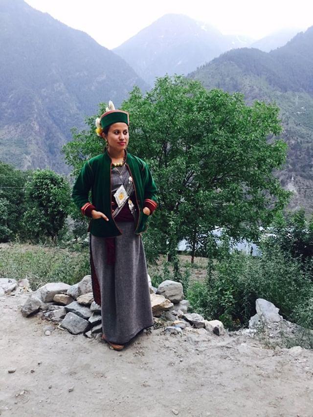 Girl in pahadi top