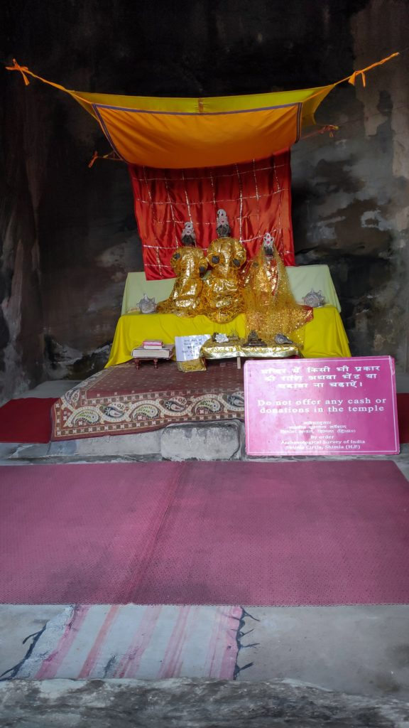the diety in masrur temple