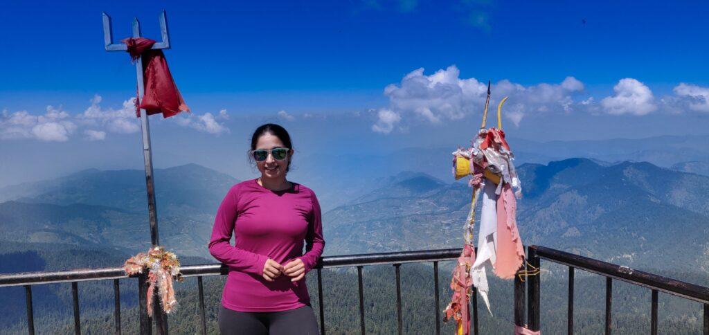 Utmost Happiness of Reaching the Churdhar Peak